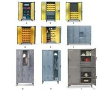 12 GAUGE HEAVY DUTY INDUSTRIAL BIN CABINETS & LOCKERS